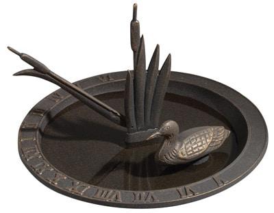 Whitehall Loon Sundial Birdbath