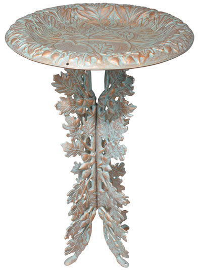 Whitehall Oakleaf Pedestal Bird Bath