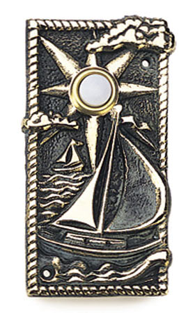 Whitehall Sailboat Solid Brass Door Bell