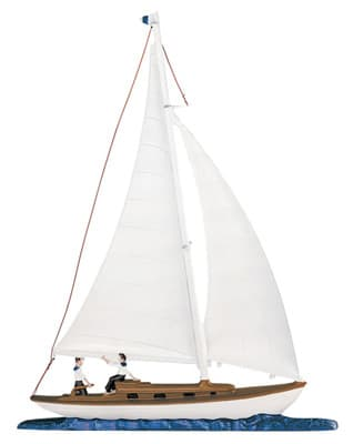 Whitehall Sailboat Traditional Weathervane