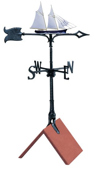Whitehall 30 Inch Schooner Color Weathervane