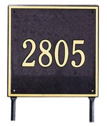 Whitehall Square Address Plaque One Line