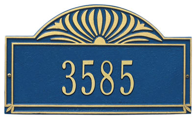 Whitehall Sunburst Address Plaque One Line