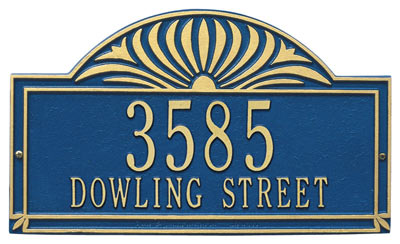 Whitehall Sunburst Address Plaque Two Lines