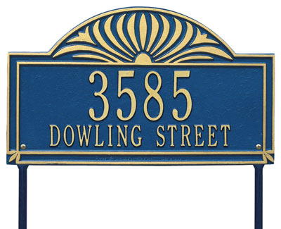 Whitehall Sunburst Address Plaque Two Lines