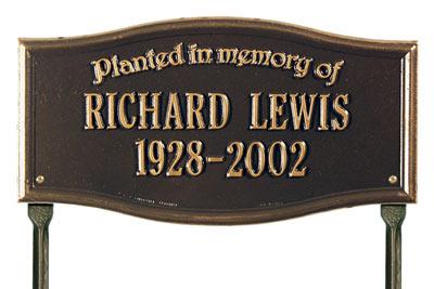 Vicksburg Planted Memory Memorial Lawn Plaque