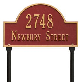 Whitehall Arch Marker Lawn Red Gold