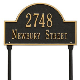 Arch Marker Plaque Two Lines Standard