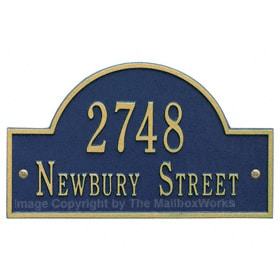 Whitehall Arch Marker Plaque Blue Gold