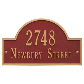 Whitehall Arch Marker Plaque Red Gold