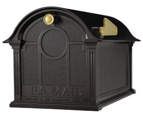 Whitehall Balmoral Post Mount Mailbox Black