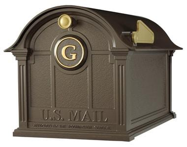 Whitehall Balmoral Mailbox Door Monogram