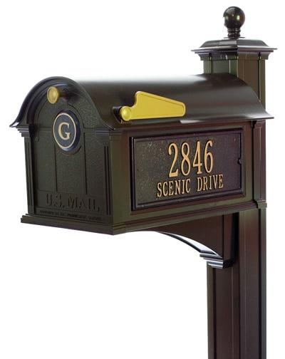 Whitehall Balmoral Monogram Mailbox Streetside Package