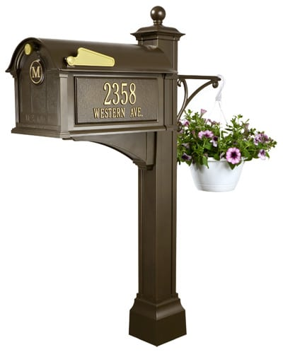 Whitehall Balmoral Monogram Mailbox Deluxe Package