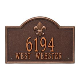Whitehall Bayou Vista Plaque Antique Copper