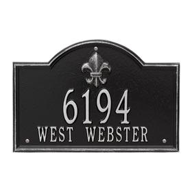 Whitehall Bayou Vista Plaque Black Silver