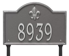 Bayou Vista Plaque One Line Standard