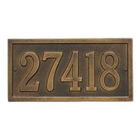 Whitehall Bismark Address Plaque Antique Brass