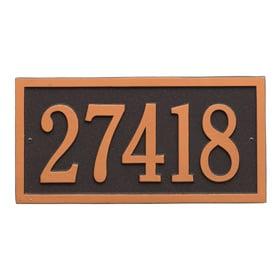 Bismark Address Plaque Oil Rubbed Bronze