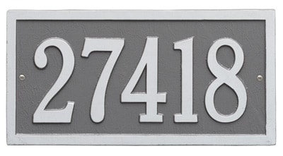 Whitehall Bismark Rectangle Address Plaques