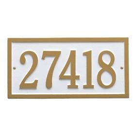 Whitehall Bismark Address Plaque White Gold
