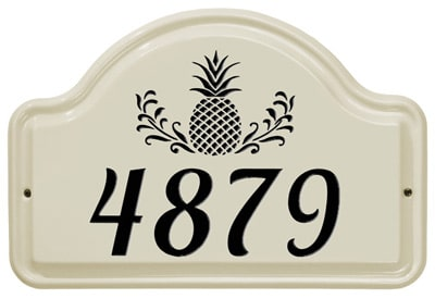 Whitehall Pineapple Arch Ceramic Address Plaque