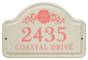 Whitehall Sand Dollar Arch Plaque Coral