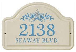 Whitehall Starfish Arch Plaque Sea Blue