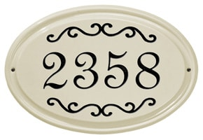 Whitehall Classic Scroll Oval Plaque Black