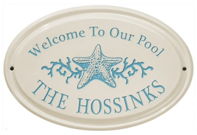 Whitehall Star Fish Oval Ceramic Plaque