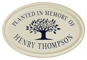 Whitehall Tree Memorial Oval Plaque Black