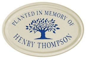 Whitehall Tree Memorial Oval Plaque Blue