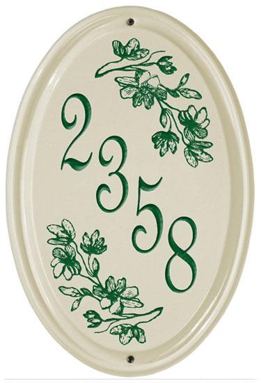 Whitehall Dogwood Vertical Oval Ceramic Plaque