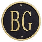 Whitehall Address Plaques Black With Gold