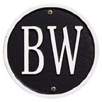 Whitehall Address Plaques Black With White