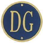 Whitehall Address Plaques Blue With Gold
