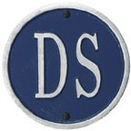 Whitehall Address Plaques Blue With Silver