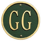 Whitehall Address Plaques Green With Gold