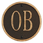 Whitehall Address Plaques Oil Rubbed Bronze