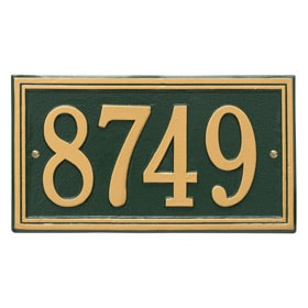 Whitehall Double Line Plaque Green Gold