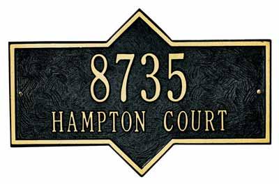 Whitehall Hampton Address Plaque Two Lines