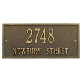 Whitehall Hartford Address Plaque Antique Brass