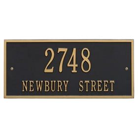 Whitehall Hartford Address Plaque Black Gold