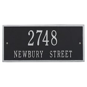 Whitehall Hartford Address Plaque Black Silver