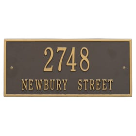 Whitehall Hartford Address Plaque Bronze Gold