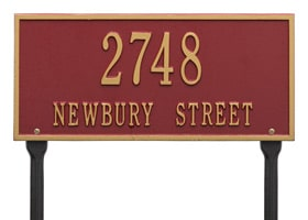 Whitehall Hartford Plaque Two Lines Standard