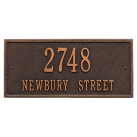 Hartford Address Plaque Oil Rubbed Bronze