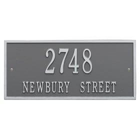 Whitehall Hartford Address Plaque Pewter Silver