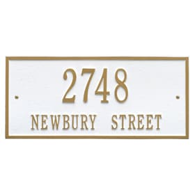 Whitehall Hartford Address Plaque White Gold