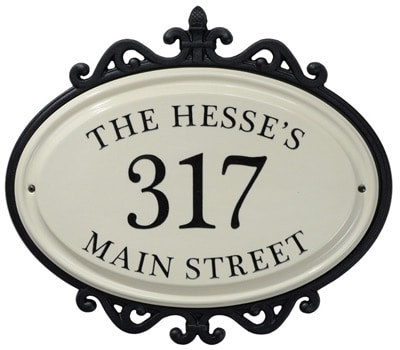 Whitehall Hillsdale Address Plaque Three Lines